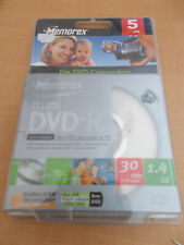 Cassette Video mini DV Digital Neuve /  New  MEMOREX mini DVD-R x 5  sealed