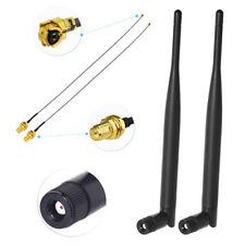 2x 6dBi RP-SMA Dual Band 2.4GHz 5GHz + 2x20 cm U.Fl / IPEX Cable Antenna KIT