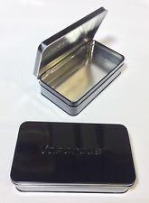 Metal Tin Black Storage Box Case Organizer Durable Containers