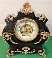 STUNNING 1890's Antique Waterbury Cast Iron Mantel Clock - BEAUTY!