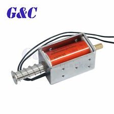 Small Electromagnetic Electric Magnet 35mm Long-Push-pull Solenoid Dc 12V L2Ke
