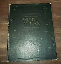 "Large 14"" Vintage 1931 Rand McNally World Atlas PREMIER EDITION World & US Maps"