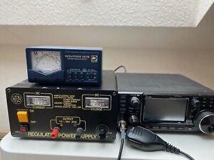 Icom IC-7300 All Mode DSP Amateurfunk Transceiver, Netzteil, Wattmeter