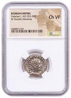 AD 253-260 Roman Empire Valerian I BI Double Denarius NGC Ch VF SKU56387