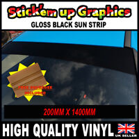 200mm x 1400mm PLAIN GLOSS BLACK WINDSCREEN SUN STRIP SUN VISOR SQUEEGEE GIFT