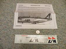Flight Path decals 1/100 FP10-40 LAM Mozambique 737-200    A24