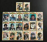 Lot 20 cartes NFL  Chicago Bears Topps 1977 1978 Football Américain