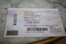 Ticket Concert )) DAVID GUETTA )) LYON 2016