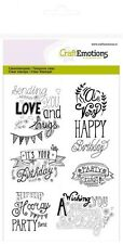 Motiv-Stempel Clearstamps Birthday Handlettering DIY CraftEmotions 130501/1258