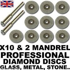 10 x discos de diamante de corte para herramienta rotativa, Dremel, Bosch, Piedra, Vidrio, Metal