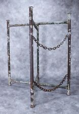 Vintage Metal Industrial Factory Construction Foldable Stand