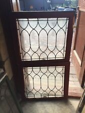 Sg 1457 2Available Price Each Antique Leaded Glass Window 23.5 H By 26.5 W
