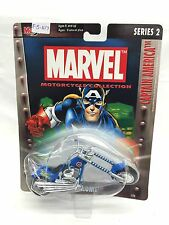 Maisto Marvel Motorcycle Collection Series 2 Captain America Midnight Chrome New