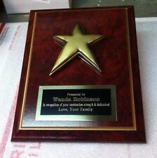 EMPLOYEE OF THE MONTH SPECIAL PERSON FAMILY REUNION  AWARD PLAQUE FREE ENGRAVING
