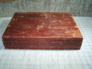 Vintage Flatware Storage Chest Box Case Wood Light Brown