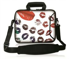 "15""-15.6""LAPTOP SLEEVE WITH HANDLE STRAP CARRY CASE BAG 4 ALL LAPTOPS *RED LIPS*"