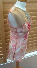 Gorgeous Sz 12 Vallen Silk Beaded Designer Top