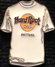 Hard Rock Hotel PATTAYA 2002 Classic White Tee-T-Shirt w/HRH Logo PIN HRC #13783