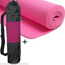 6mm Thick Yoga Mat with Non Slip Carrier Exercise Pilates Gym Mats  Pink