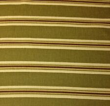 "RICHLOOM JOHN WOLF OLIVE GREEN BROWN STRIPE UPHOLSTERY FABRIC BY THE YARD 54""W"