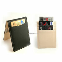 Money Clip Genuine Leather Bifold Billfold Personalized Wallet G6-Free Engraving