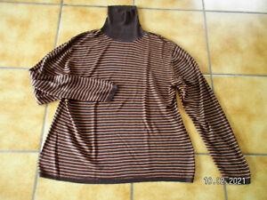 Strenesse,Pullover/Shirt/Rolli,Gr.40,Braun/Orangebraun,Lagenlook,Traumteil
