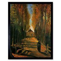 Vincent Van Gogh Avenue Of Poplars At Sunset 1884 Old Painting Framed Art Print