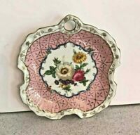 Vintage decorative plate Heirloom TOYO porcelain ceramic pink & white floral