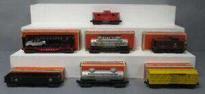 Lionel Vintage O Gauge Freight Cars: 6656, 6462, 6457, 6465, 6414, 2465  [7]/Box