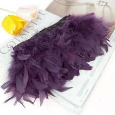 183cm Turkey Feather Fringe Deep Purple Trim DIY Craft