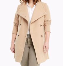 Torrid Camel Funnel Neck Gold Tone Military Buttons Coat Size:  2 #0861
