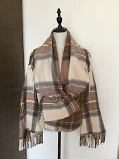 Alexander McQueen Plaid Tartan Blanket Jacket Coat 40 Rare!