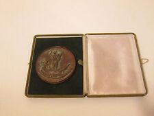 Large Italian Bronze Medal or Plaque Depicting Ancient Roman Scene - Interesting