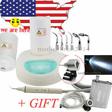 USA Dental Ultrasonic Scaler Piezo scaling W Handpiece TIPS fit EMS W LED light