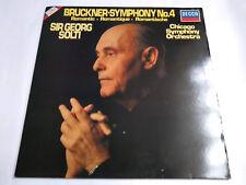 """SXDL 7538 Sir George Solti – Bruckner Symphony No. 4 12"""" Vinyl LP Decca"""
