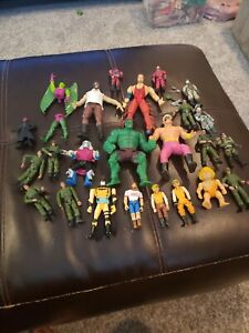 Lot Of Vintage Mixed Lot Action Figures WWE MARVEL LANARD TONKA