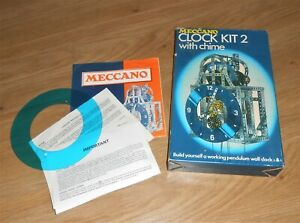 MECCANO CLOCK KIT No.2 UNFINISHED ASSEMBLY WITH ALL PARTS BOX & INSTRUCTIONS