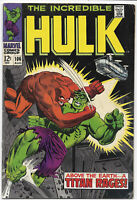 The Incredible Hulk #106 1968 FN+ Marvel Comics Free Bag/Board