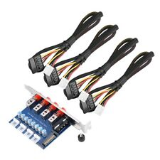 4Channel 15Pin SATA Device HDD Power Switch Selector Control Hard Drive Switcher