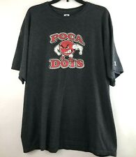 Russell Athletic Mens Size 2XL XXL Graphic Poca Dots T Shirt Gray Short Sleeve