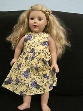 "18"" MADAME ALEXANDER DOLL 2009 - BLONDE HAIR, BLUE EYES great condition"