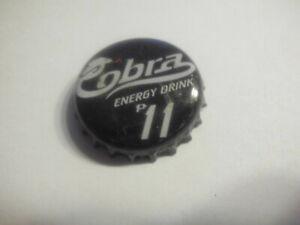Gebrauchter, schwarz-weisser Kronkorken Cobra ENERGY DRINK   p11