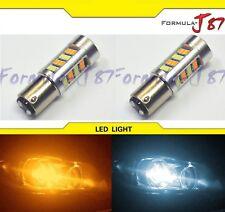 LED Switchback Light 2835 White Amber Orange 2357 Two Bulb Front Turn Signal Fit