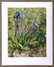 Van Gogh  Iris  Rare Vintage Original 1st Limited Edition 1960 Lithograph