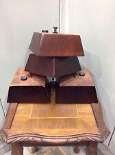 Modern Furniture Feet X 4 , Solid Dark Wood , Sofa / Settees