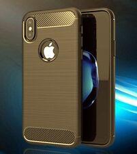 case alu carbon look für Handy smartphone iPhone-10 / ipohne-x TPU hülle cover