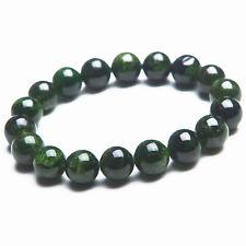 Genuine Natural Green Diopside Gemstone Round Beads Bracelet 10mm AAA