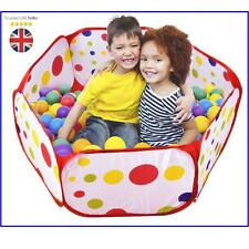 Tech Traders Kids Play Tent Playpen Ball Pit Pool with Red Zippered Storage Bag