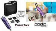 Andis Pro PET Dog Clipper Kit w/CERAMICEDGE 10 Blade,4 Guide Combs Set,Case,*NEW