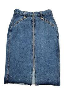 🤍 Marcel Dachet   Vintage Denim Mid Length Skirt   Ladies Size 12